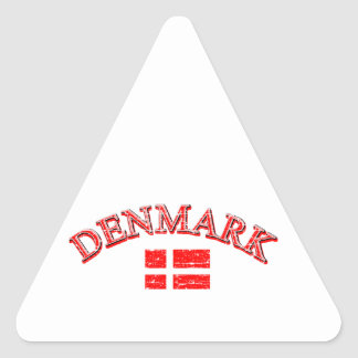 Denmark football design triangle sticker