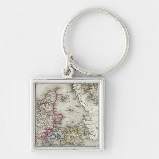 Denmark, Germany Keychain