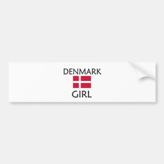 DENMARK GIRL BUMPER STICKER