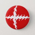 Denmark Gnarly Flag Pinback Button