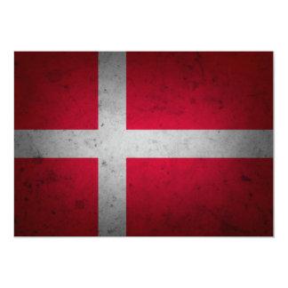 Denmark Grunge Flag Demarkian textured Card