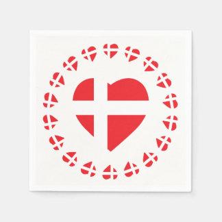 DENMARK HEART SHAPE FLAG NAPKIN