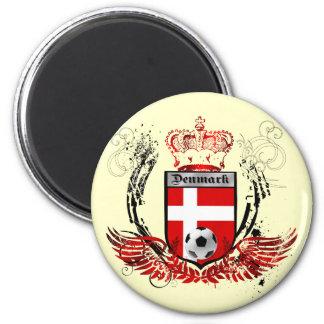 Denmark kings of soccerfudbold crest emblem magnet