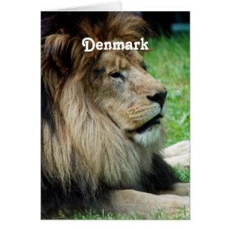 Denmark Lion Greeting Card