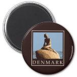 Denmark Little Mermaid 2 Inch Round Magnet