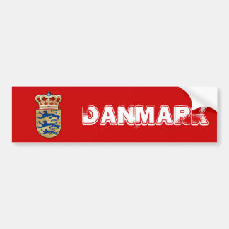 Denmark logo badge coat of arms royal crest bumper sticker