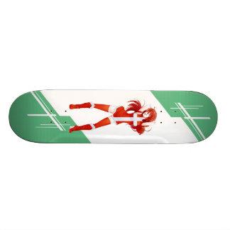 Denmark Manga Anime girl dressed in Flag Danish Skate Board Deck