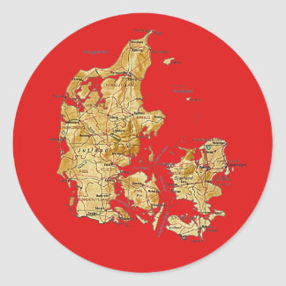Denmark Map Sticker
