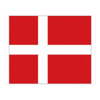Denmark National Flag Postcard