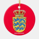 DENMARK*- ornamento redondo de cerámica Adorno Para Reyes