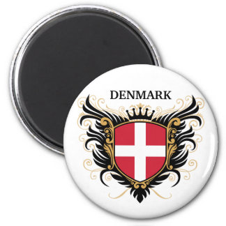 Denmark [personalize] 2 inch round magnet
