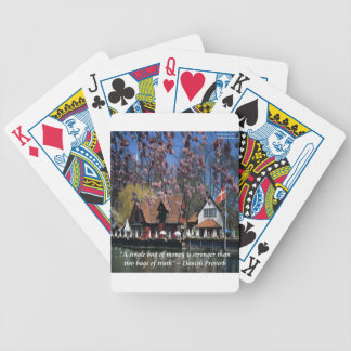 Denmark Photo & Famous Proverb Bicycle Playing Cards