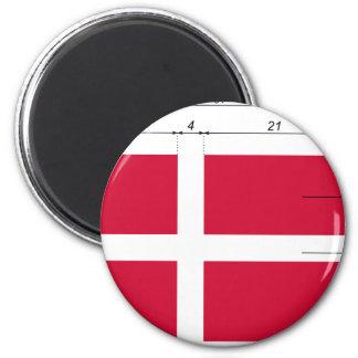 Denmark-Proportions-Da, Denmark flag Refrigerator Magnets