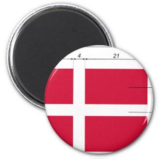 Denmark-Proportions, Denmark flag Refrigerator Magnets