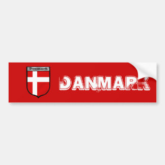 Denmark shield Danish badge emblem gifts Bumper Sticker