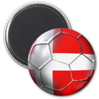 Denmark soccer 2 inch round magnet