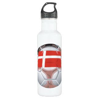Denmark Soccer Ball Water Bottle
