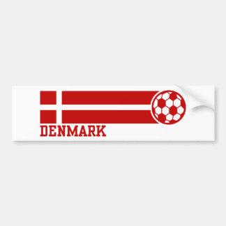 denmark Soccer Bumper Sticker