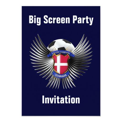 Denmark Soccer Champions 5x7 Paper Invitation Card