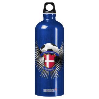Denmark Soccer Champions Aluminum Water Bottle