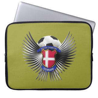 Denmark Soccer Champions Computer Sleeves