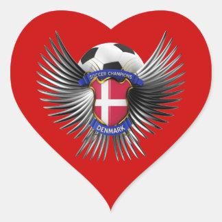 Denmark Soccer Champions Heart Sticker