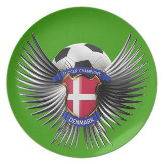 Denmark Soccer Champions Plates
