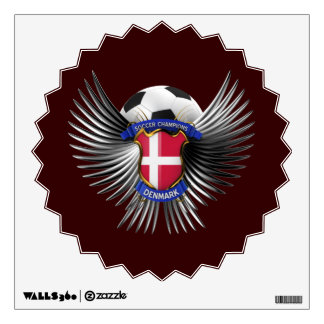 Denmark Soccer Champions Wall Sticker