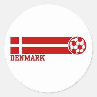 denmark Soccer Classic Round Sticker