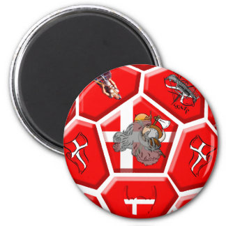 Denmark soccer fans Tees and football gifts 2 Inch Round Magnet