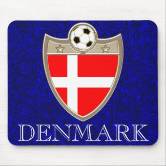 Denmark Soccer Mouse Pad