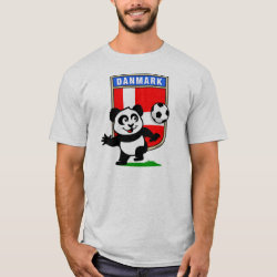 Men's Basic T-Shirt with Danish Football Panda design