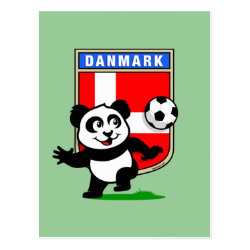 Postcard with Danish Football Panda design