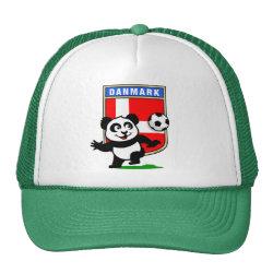 Trucker Hat with Danish Football Panda design