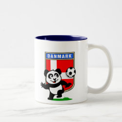 Two-Tone Mug with Danish Football Panda design