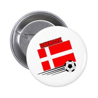 Denmark - Soccer Team Button