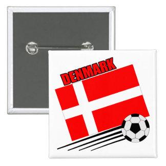 Denmark - Soccer Team Pinback Buttons