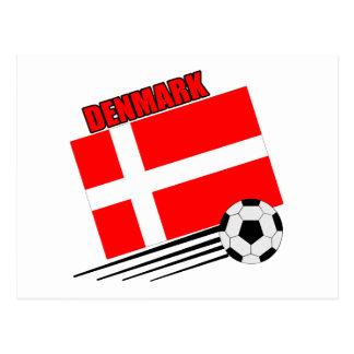 Denmark - Soccer Team Postcard
