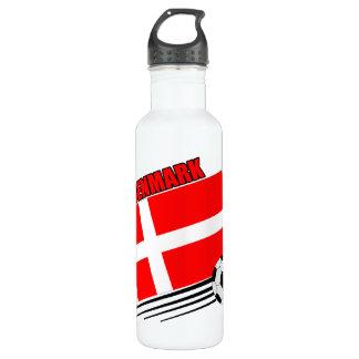 Denmark Soccer Team Stainless Steel Water Bottle