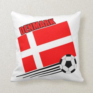 Denmark Soccer Team Throw Pillows
