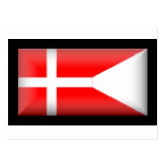 Denmark-Split Flag Postcard
