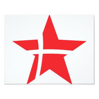 denmark star icon card