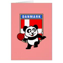 Greeting Card with Danish Table Tennis Panda design