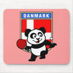 Mousepad with Danish Table Tennis Panda design