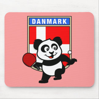 Denmark Table Tennis Panda Mouse Pad