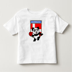 Toddler Fine Jersey T-Shirt with Danish Table Tennis Panda design