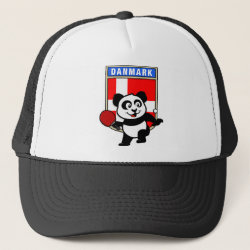 Trucker Hat with Danish Table Tennis Panda design