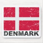 Denmark Vintage Flag Mouse Pad