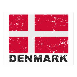 Denmark Vintage Flag Postcard
