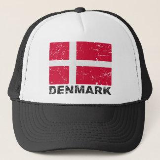 Denmark Vintage Flag Trucker Hat